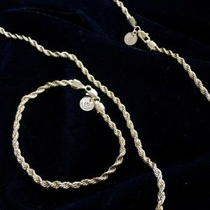 Other - EXCLUSIVE 18K GOLD ROPE CHAIN & BRACELET ITALY
